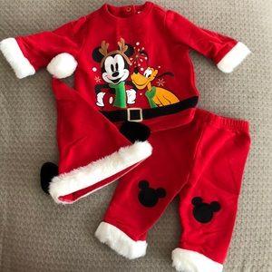Disney 3 piece Santa outfit - 3-6 mos